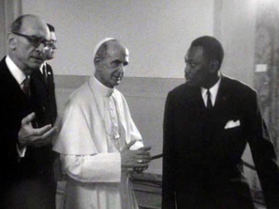 En juin 1969, Paul VI est en visite au siège de l'ONU à Genève. [RTS]