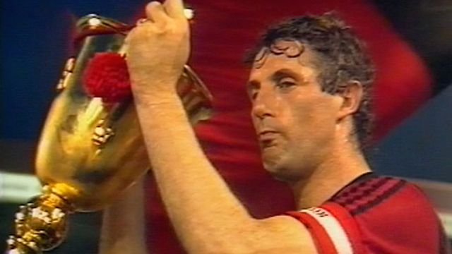 La coupe en 1987 pour Neuchâtel Xamax. [RTS]