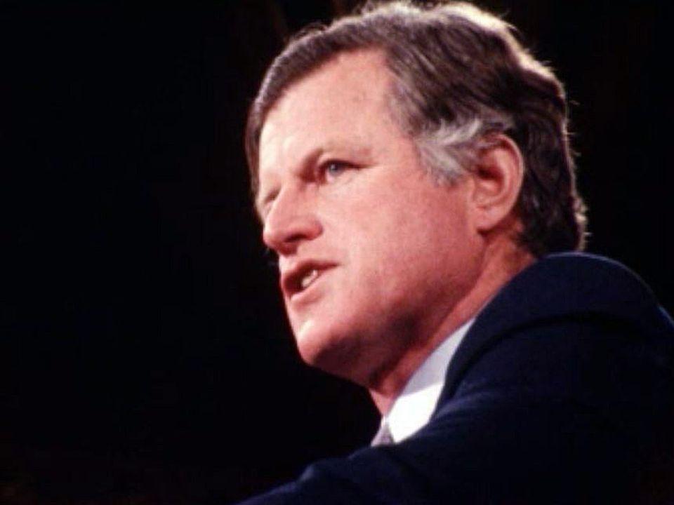 Le sénateur Ted Kennedy en campagne pour l'investiture démocrate.