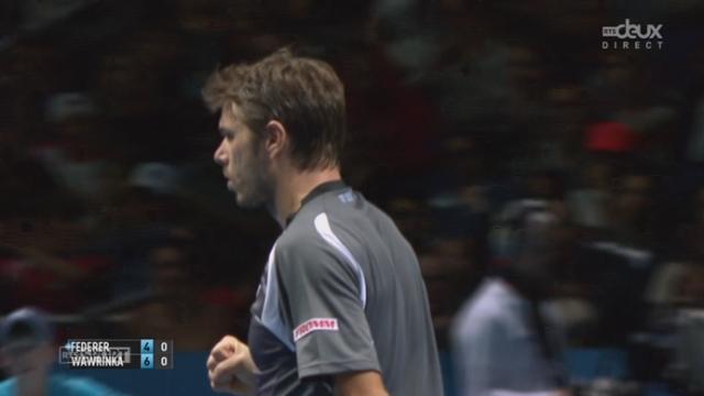 Federer - Wawrinka (4-6): Wawrinka empoche la 1ère manche [RTS]