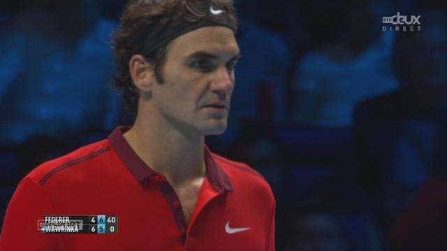 1-2, Federer - Wawrinka (4-6, 7-5): Federer égalise à une manche partout [RTS]