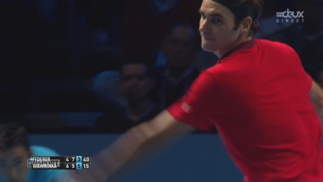 1-2, Federer - Wawrinka (4-6, 7-5, 3-5): un point digne d'un match d'exhibition entre les deux joueurs [RTS]