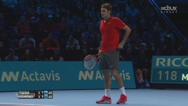 1-2, Federer - Wawrinka (4-6, 7-5, 5-5): Federer fait le break après un magnifique jeu de 11 minutes [RTS]
