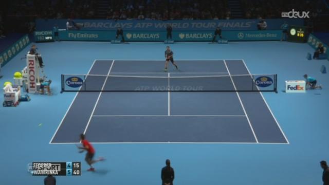 Tennis-Masters de Londres:Federer rejoint Djokovic en finale en battant Wawrinka (4-6,7-5,7-6) [RTS]