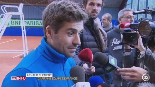 Tennis- Coupe Davis: les 2 joueurs suisses suscitent des interrogations chez leurs adversaires français [RTS]