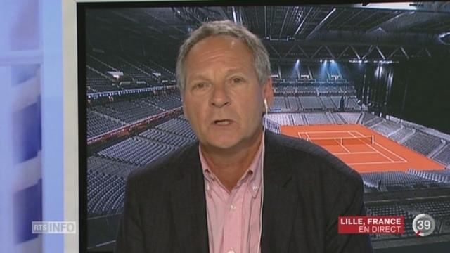 Tennis- Coupe Davis: le point avec Pierre-Alain Dupuis à Lille [RTS]