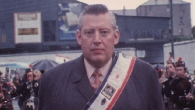 Le révérend Ian Paisley en 1972. [RTS]