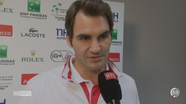 Tennis - Coupe Davis: l'état de santé de Federer inquiète la Suisse [RTS]