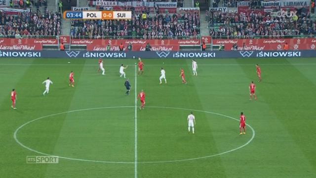 """Plologne - Suisse (0-1): ouverture du score rapide pour la """"Nati"""" par Drmic bien servi par Shaqiri [RTS]"""