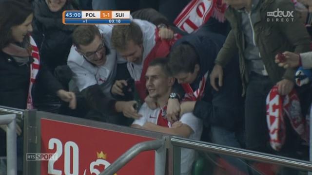Pologne - Suisse (1-1): la Pologne égalise par Jedrzejczyk d'une tête piquée imparable [RTS]