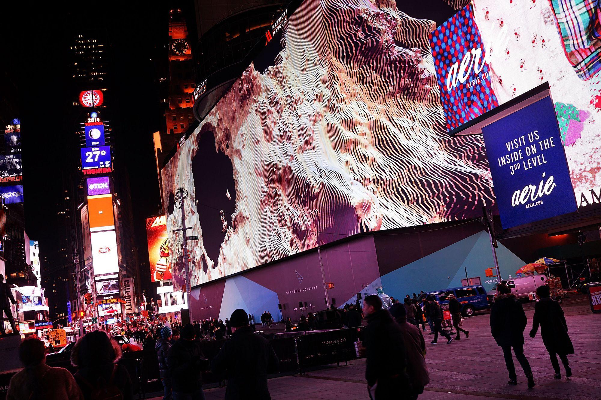 New york inaugure le plus grand cran num rique au monde for Photo ecran times square