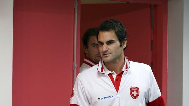 Federer ne s'est pas encore entraîné depuis son arrivée à Lille. [Salvatore Di Nolfi - Keystone]