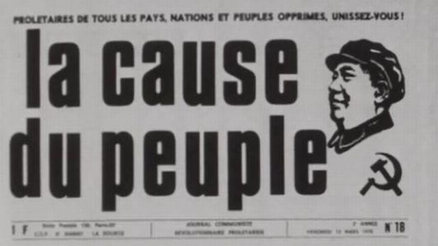Les maoïstes se rassemblent autour de Jean-Paul Sartre. [RTS]