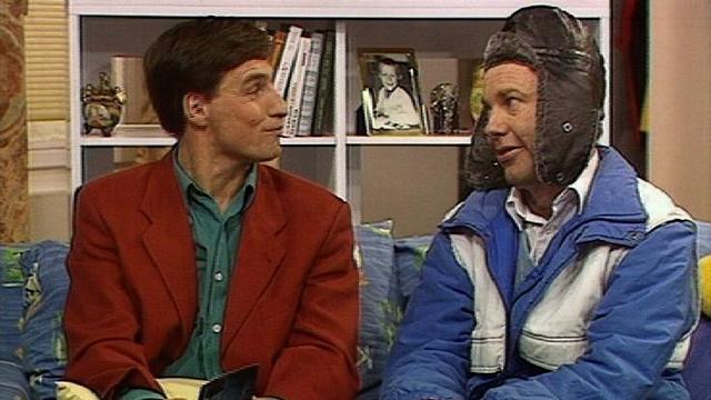 Les humoristes neuchâtelois Cuche et Barbezat en 1999. [RTS]
