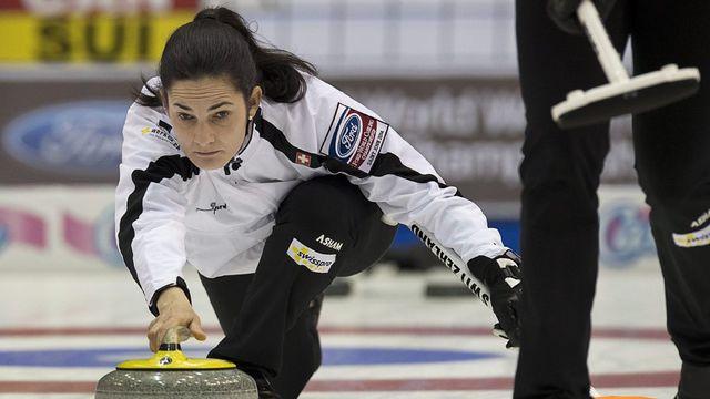 Championnes du monde en titre, Binia Feltscher et les Suissesses visent désormais un sacre continental. [Andrew Vaughan - Keystone]