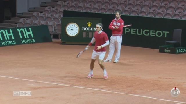 Tennis - Coupe Davis: Federer à l'air en forme [RTS]