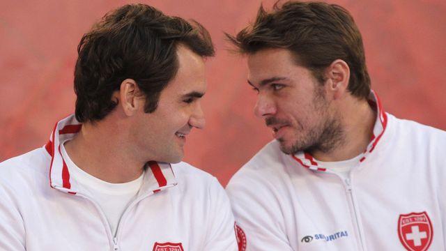 La complicité est évidente entre Roger et Stan. [Christophe Ena - Keystone]