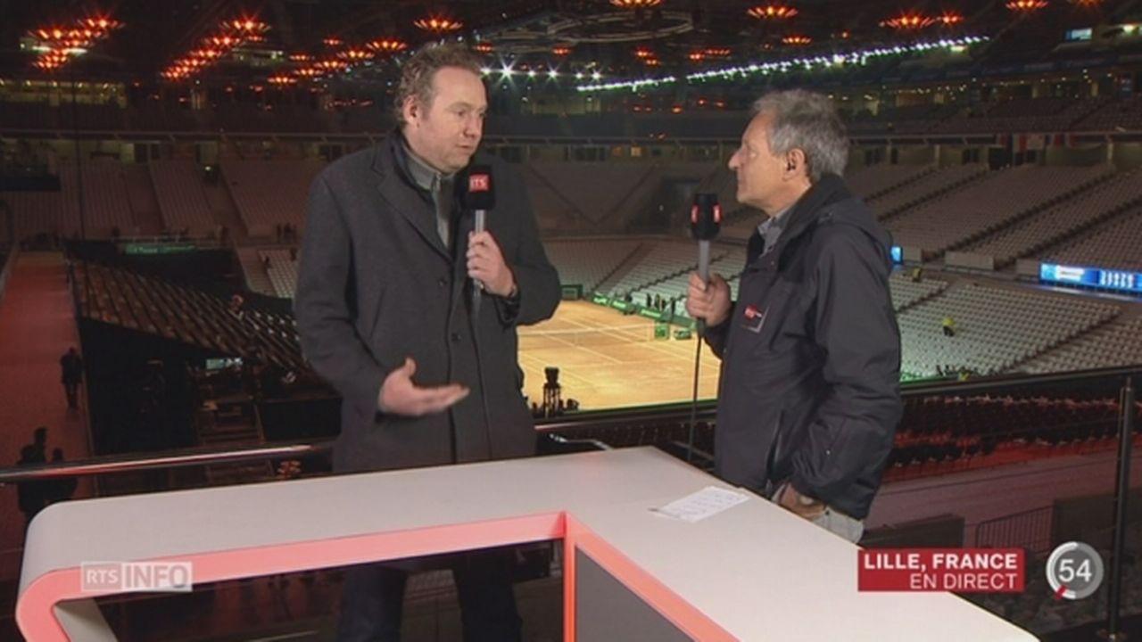 Tennis - Coupe Davis: les précisions de Pierre-Alain Dupuis et Marc Rosset à Lille [RTS]