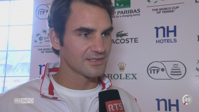 Tennis - Coupe Davis: interview de Roger Federer [RTS]