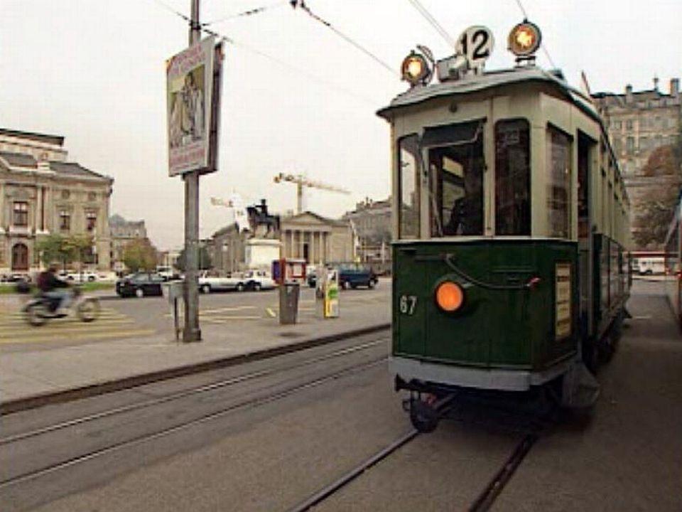 A Genève, une sortie exceptionnelle pour l'ancien tram vert.