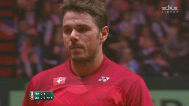 Finale, Wawrinka - Tsonga (6-1): Wawrinka empoche le 1er set sans grande difficulté [RTS]