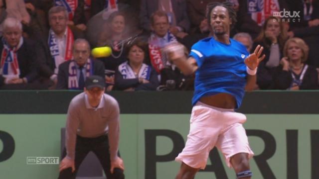 Finale, Federer - Monfils (1-6, 4-6): le Français s'adjuge le 2e set [RTS]