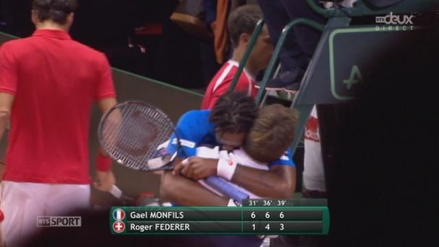 Finale, Federer - Monfils (1-6, 4-6, 3-6): victoire en 3 sets de Monfils qui égalise pour la France [RTS]