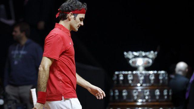 Il n'y pas eu de miracle pour Federer face à un Monfils quasi injouable. [Salvatore Di Nolfi - Keystone]