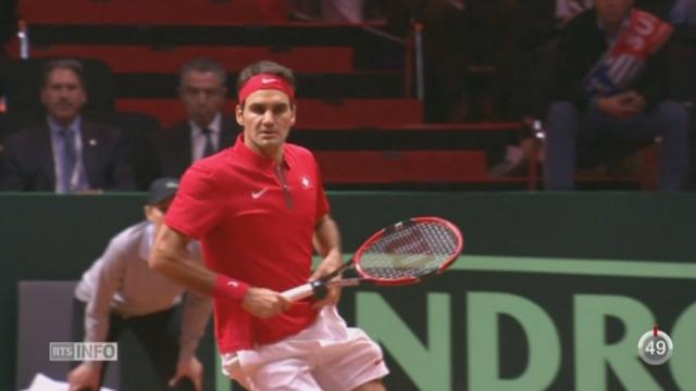 Tennis- Coupe Davis: Suisses et Français sont à égalité (1-1) avant le double [RTS]