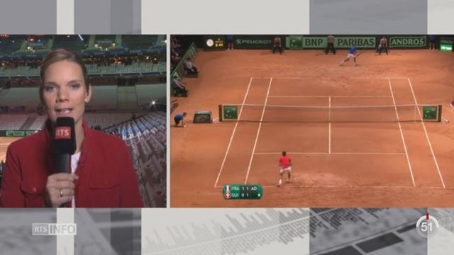 Tennis- Coupe Davis: le point avec Marie-Laure Viola à Lille [RTS]