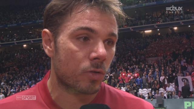 Finale, Federer-Wawrinka - Benneteau-Gasquet (6-3, 7-5, 6-4): interview de Wawrinka après la victoire en double [RTS]