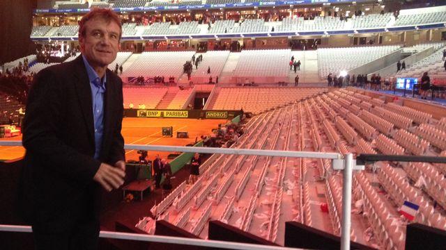 Mats Wilander, Lille, Coupe Davis, finale, France - Suisse, 22 novembre 2014 [Miguel Bao - RTS]
