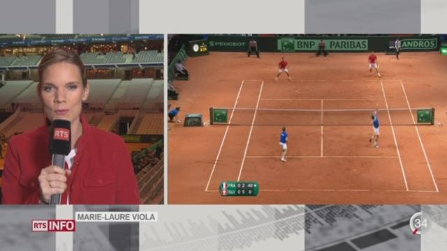 Tennis- Coupe Davis: l'analyse de Marie-Laure Viola à Lille (1-2) [RTS]