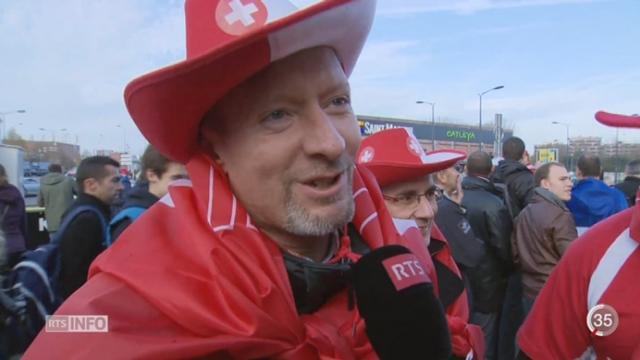 Tennis- Coupe Davis: les supporters suisses sont minoritaires à Lille mais survoltés [RTS]