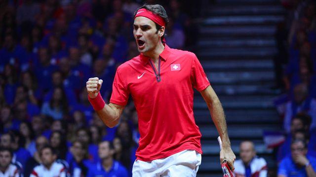 Federer peut apporter le point de la victoire pour la Suisse. [Dave Winter - EQ]