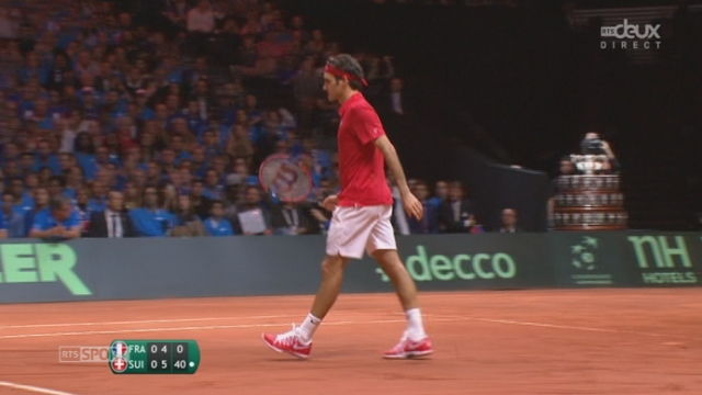 Finale, Gasquet - Federer (4-6): Federer empoche le premier set en 44 minutes [RTS]