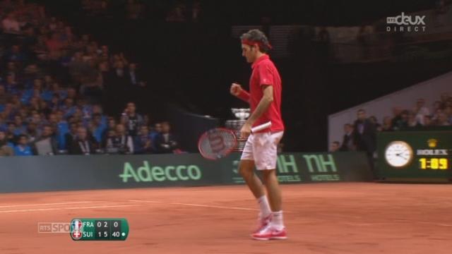 Finale, Gasquet - Federer (4-6, 2-6): Federer remporte ce deuxième set avec un nouveau jeu blanc [RTS]