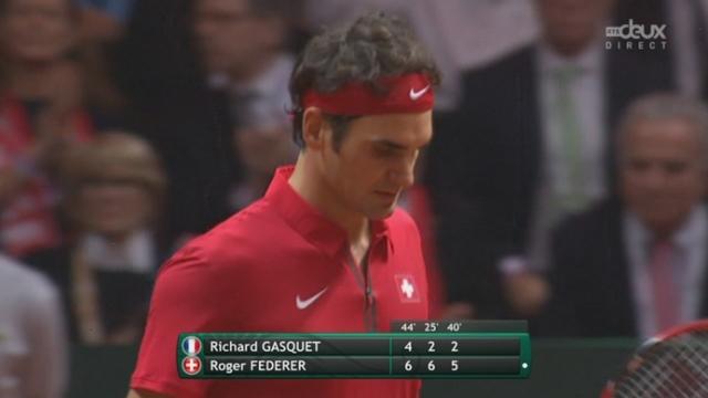 Finale, Gasquet - Federer (4-6, 2-6, 2-5): double break pour l'équipe de Suisse qui se rapproche fortement du saladier d'argent [RTS]