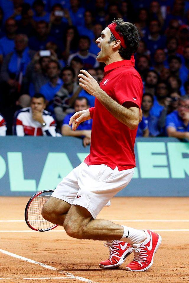 Roger Federer permet à la Suisse de remporter sa première Coupe Davis [Keystone]