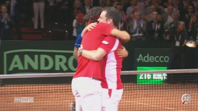 Tennis-Coupe Davis: l'équipe de Séverin Luthi ramènera la Coupe Davis en Suisse [RTS]