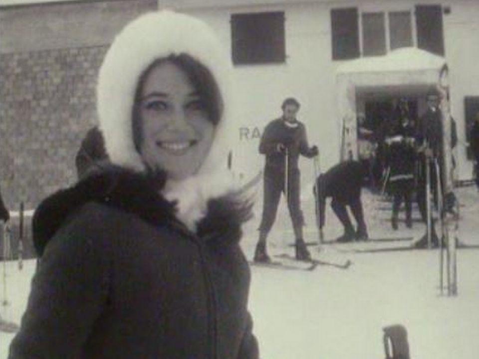 Sheila aux sports d'hiver à Crans en 1967. [RTS]