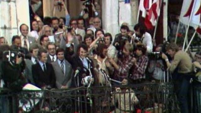 François Lachat proclame l'indépendance du Jura, le 24 septembre 1978 [RTS]