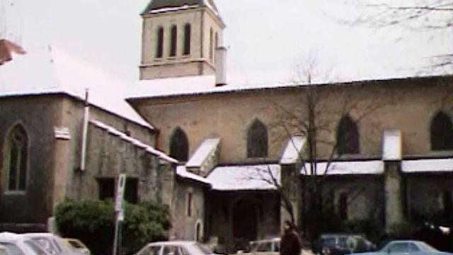 Le pasteur de Saint-Gervais prend part aux conflits du quartier. [RTS]