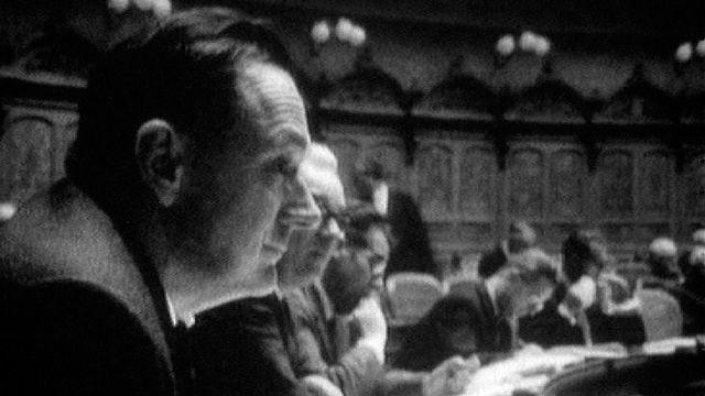 Parlementaire en session en 1967. [RTS]