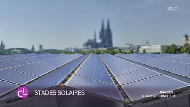 La plus grande centrale solaire du monde sur un stade va voir le jour sur le toit du nouveau stade de Bienne (BE) [RTS]
