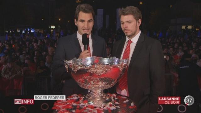 Coupe Davis: entretien avec Roger Federer et Stan Wawrinka depuis Lausanne [RTS]