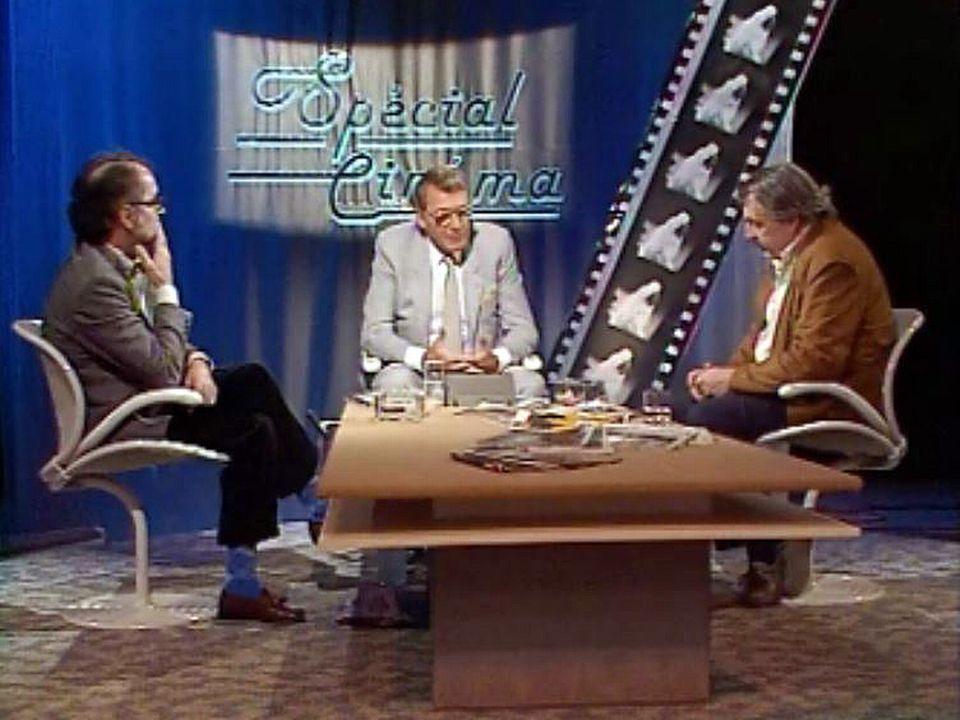 Alain Tanner et Jean-Luc Godard sur le plateau de Spécial Cinéma. [RTS]