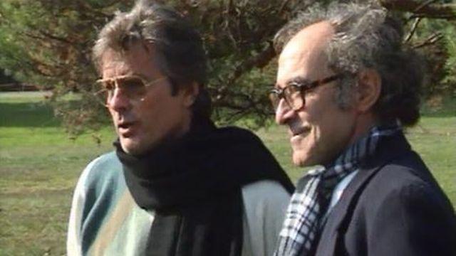 Sur le tournage du film Nouvelle Vague, entre deux prises. [RTS]