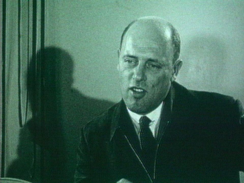 Goerges Hardy, commentateur sportif en 1954. [RTS]