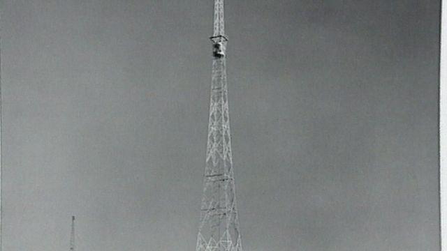 Antenne radio en 1954 en Suisse. [RTS]